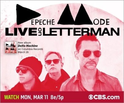 Depeche Mode al David Letterman Show 11 marzo 2013