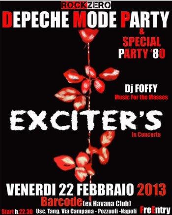 Depeche Mode Party in Concerto 22.02.13 Napoli celebra Delta Machine