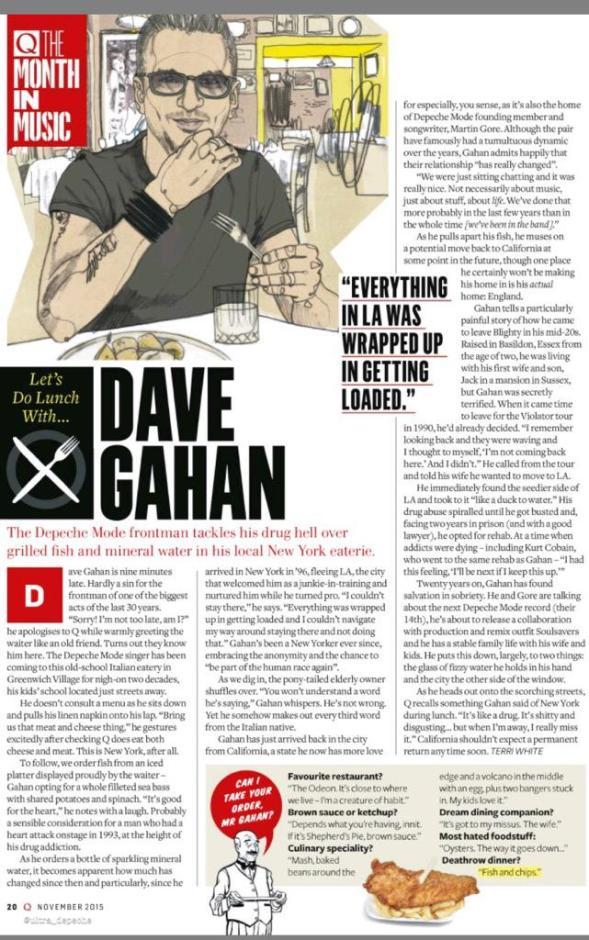A pranzo con Dave Gahan
